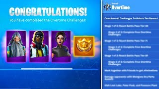 *NEW* FREE SEASON 10 BATTLE PASS? , SKIN STYLES, & CHALLENGES! (Fortnite Overtime REWARDS)