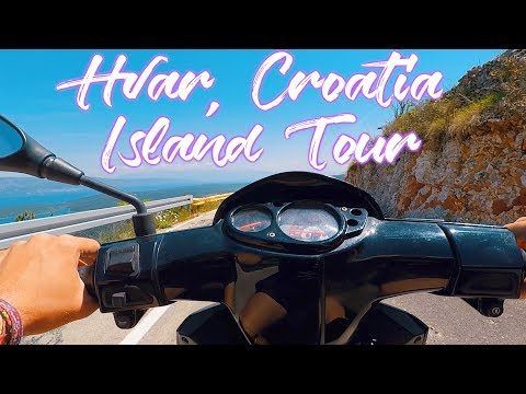 HVAR || ISLAND TOUR || RENTING SCOOTERS || TRAVEL CROATIA VLOG #21