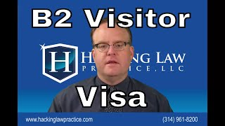 B2 visitor visas to the US