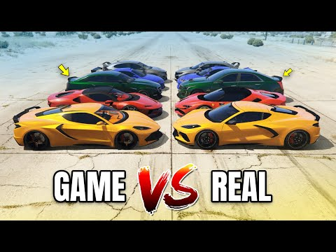 GTA 5 Online - GTA 5 CARS VS REAL LIFE CARS (WHICH IS FASTEST?) | SPORT CARS #1