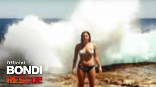 Canadian Tourist engulfed by a Wave | Bondi Rescue