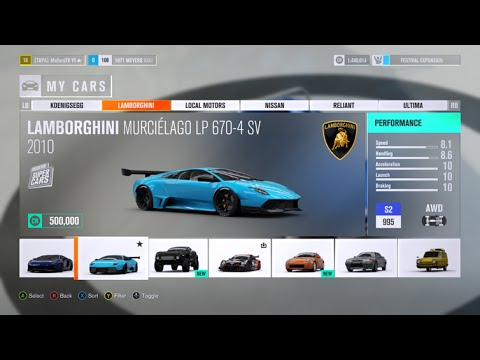 Lamborghini Murcielago Lp670 4 Forza Horizon 3 Gameplay Youtube