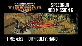 SPEEDRUN: C&C Tiberian Sun Nod Mission 6 (Hard). NO GLITCH.