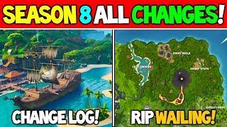 *ALL* Fortnite Season 8 Changes! | POI Map Changes, 5 Vaults, Cannons, New Skins and Challenges!