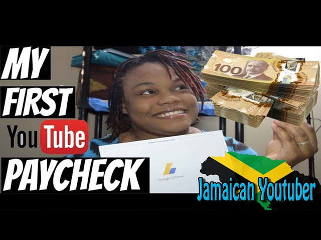 My First Youtube Paycheck Small Youtuber The Real Truth Jamaican Youtuber