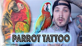 Tattooing my Parrot on a friend! Shop Introduction and Rescue update!