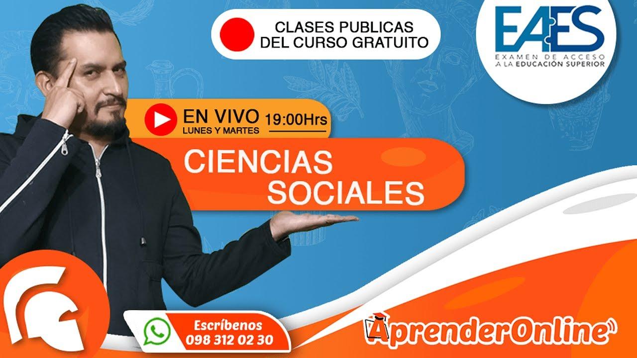 EAES | Clase de Ciencias Sociales | CURSO GRATUITO |🔴 Live (T2/C21)