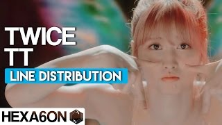 TWICE - TT Line Distribution (Color Coded)
