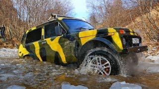 По ущелью через реки и лёд на УАЗе, Дастере, Ниве, Toyota