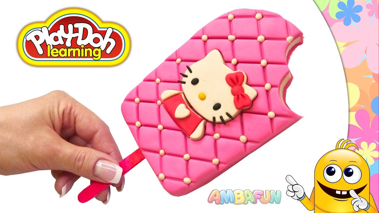 Hello Kitty Toy Food : Hello kitty ice cream play doh giant popsicle
