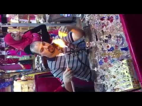 Making glass bottle Egypt