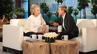 Hillary Clinton and Ellen Are Live on Facebook!