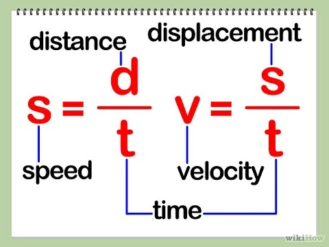 kinematics physics speed and velocity calculate speed and
