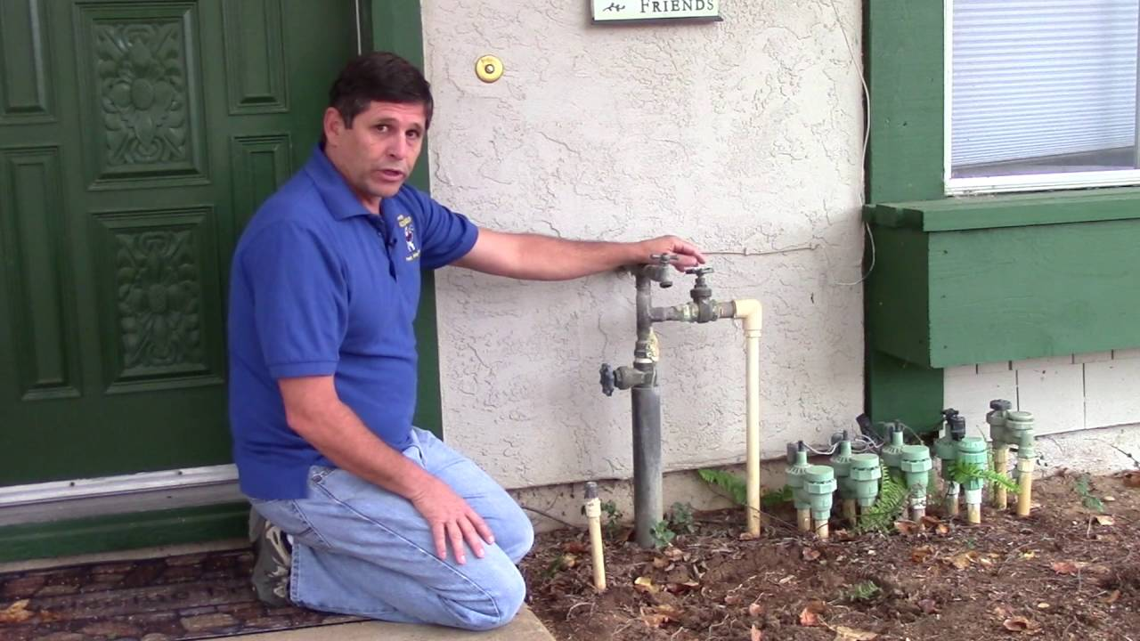 outdoor water shut off