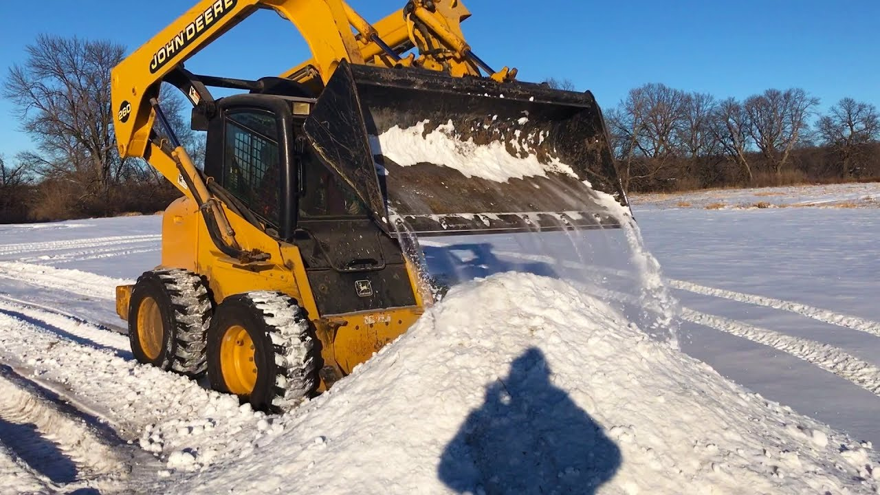 plowing-snow-with-the-john-deere-skid-loader-sunday-funday