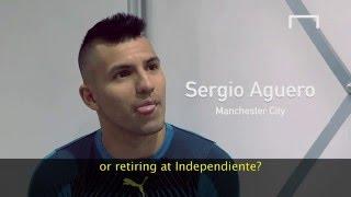 Aguero discusses retiring with Messi
