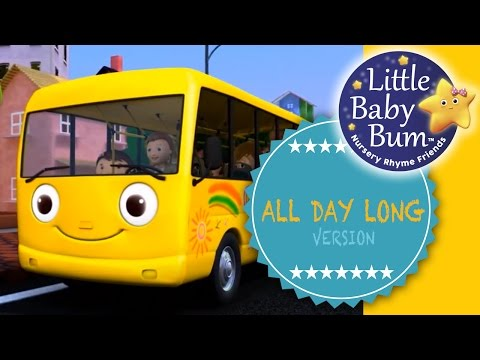 "Wheels On The Bus | UK | Part 1 | ""All Day Long"" version from LittleBabyBum!"
