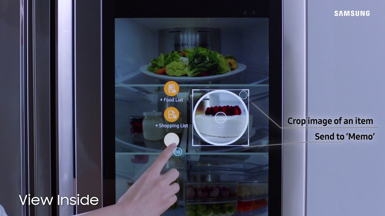 refrigerator good guys. view inside - samsung family hub refrigerator | the good guys