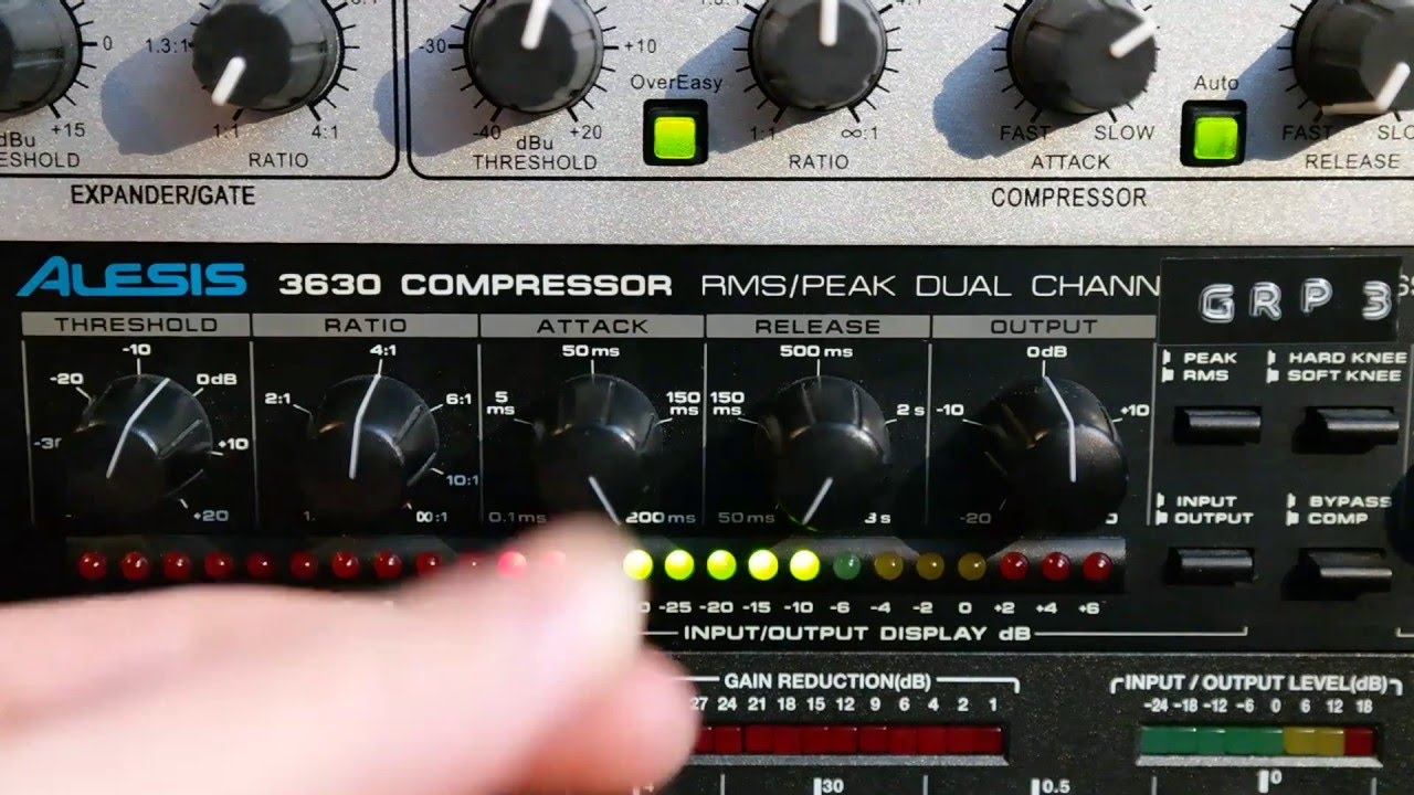 Alesis 3630 Compressor: Drums, Guitars, Vocals & Full Mix on