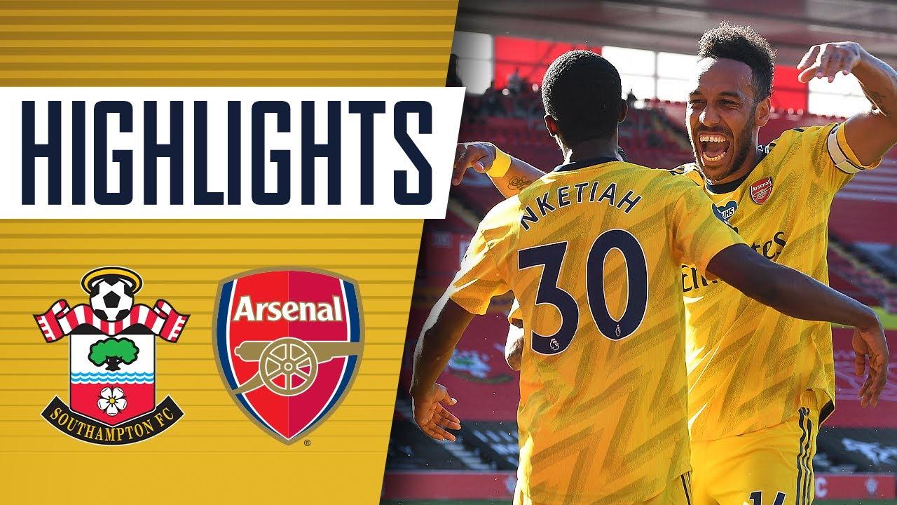 Download HIGHLIGHTS | Southampton 0-2 Arsenal | Premier League | June 25, 2020
