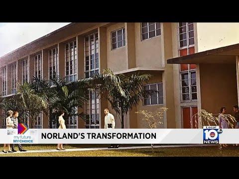 Miami Norland Senior High School  shows off Viking pride