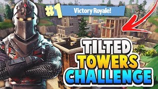 TILTED TOWERS CHALLENGE! *V-BUCKS FORFEIT* Fortnite Battle Royale