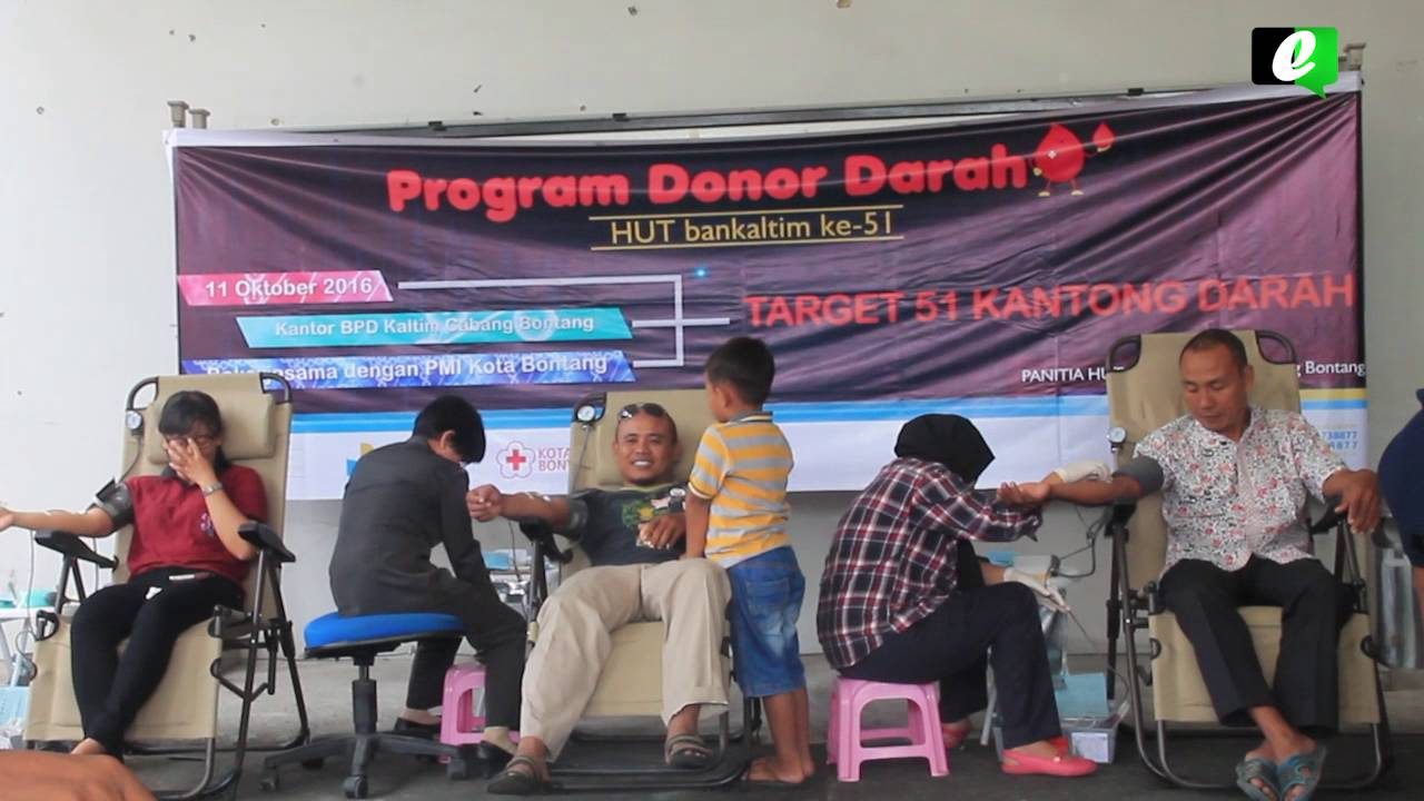 Acara donor darah Bankaltim di Bontang saat memperingati HUT ke 51.