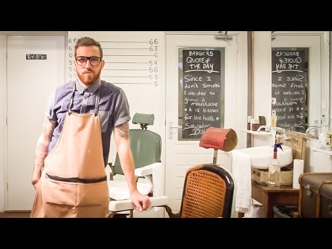 Cut Throat Barber and Coffee, Amsterdam, Netherlands. The Barber Chair Interviews: Episode 1