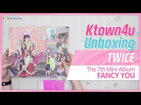 "Unboxing & Giveaway TWICE ""FANCY YOU"" the 7th mini album トゥワイス 트와이스 언박싱 Kpop Ktown4u"