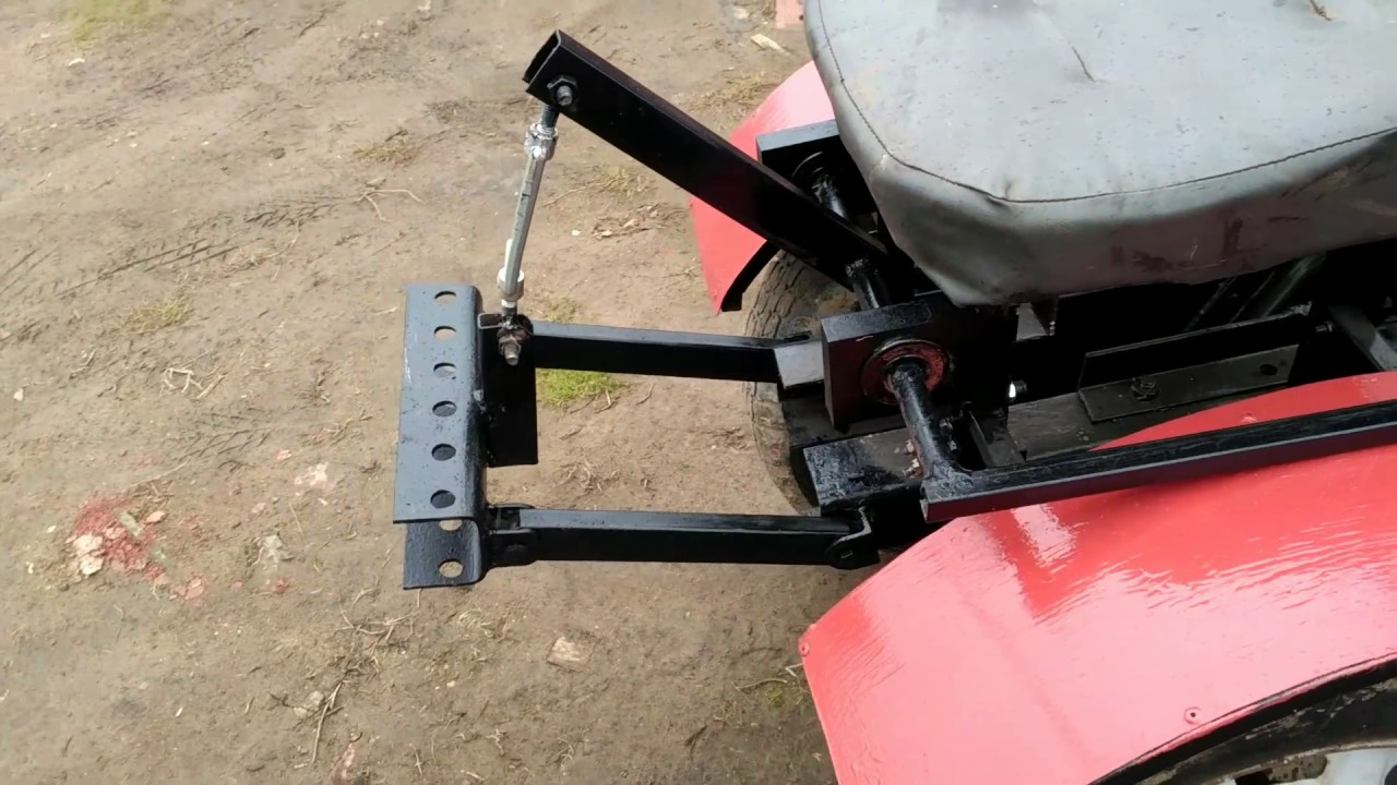Механическая навеска на минитрактор своими руками фото 602