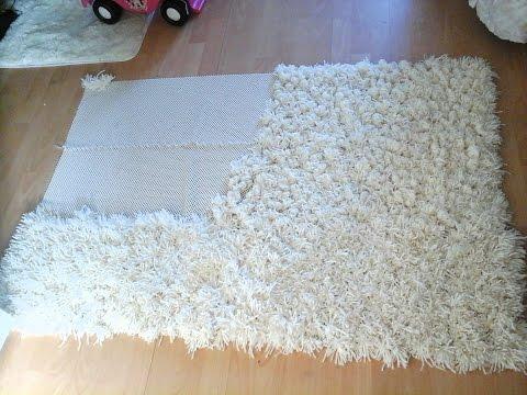 Diy anti-slip shaggy rug