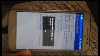 How to Fix Unfortunately , Setting  has stopped  Samsung Galaxy Grand Max -SM G 720NO