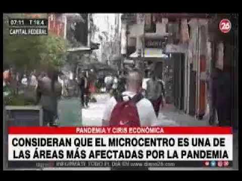 26TV Consideran que el microcentro es una de las zonas más afectadas por la pandemia