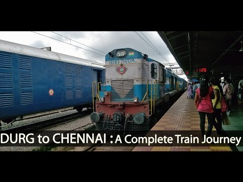 DURG to MADRAS : Journey Onboard 12851 Bilaspur-Chennai Express (Indian Railways)