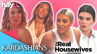 Most Savage Fights KARDASHIANS VS REAL HOUSEWIVES! | Franchise Face Off | hayu