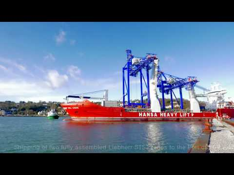 Liebherr - Shipping of two ship to shore container cranes