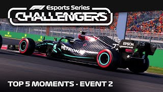 TOP 5 MOMENTS • Event 2 • PC • F1 Esports 2021 Challengers
