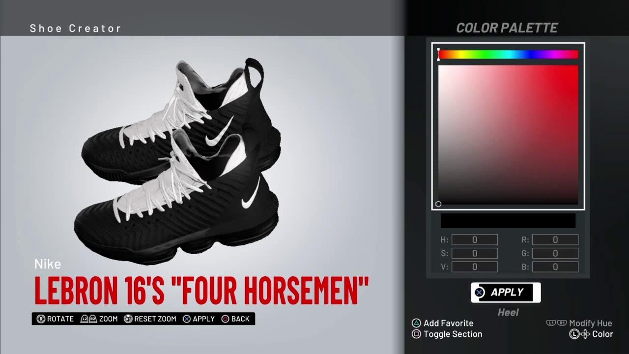 NBA 2K19 Shoe creator *#NBA2K19 Lebron