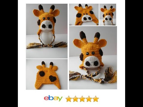 Giraffe Baby Hat - Ready to Ship  ad9c529d93a