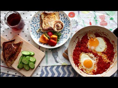 3 وجبات فطور لذيذة وسريعة3 breakfasts and delicious fast #فطور_سريع#وجبات_سريعة#And Jbat_aftor_sriah