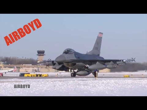 Wisconsin ANG F-16s