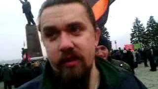 Митинг у памятника Ленину в Запорожье 1 марта 2014(http://tezis.tv 1 марта 2014 года в Запорожье собрался очередной митинг у памятника Ленину. Выступил народный депута..., 2014-03-01T12:19:21.000Z)