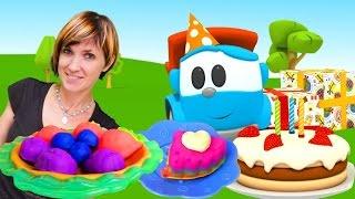 Веселая Школа с Машей Капуки Кануки - Видео для детей - Готовим тортик для Левы