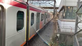 東急線あざみ野駅6000系6103F編成134急行大井町駅行き入線。