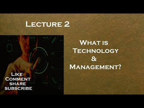 What is Technology Management