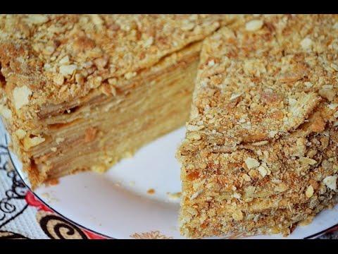 Торт Наполеон с очень тонкими коржами