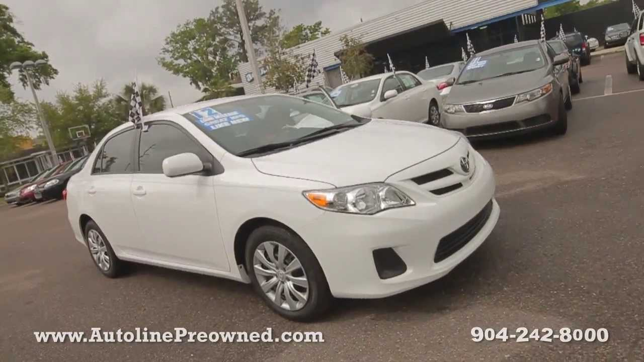 Autoline Preowned 2012 Toyota Corolla LE For Sale Used Walk Around Review  Test Drive Jacksonville