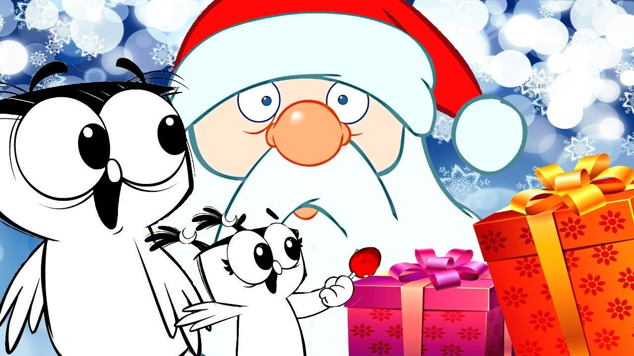 Мультики СМЕШИЛКИ Новогодние приключения веселых птичек для детей