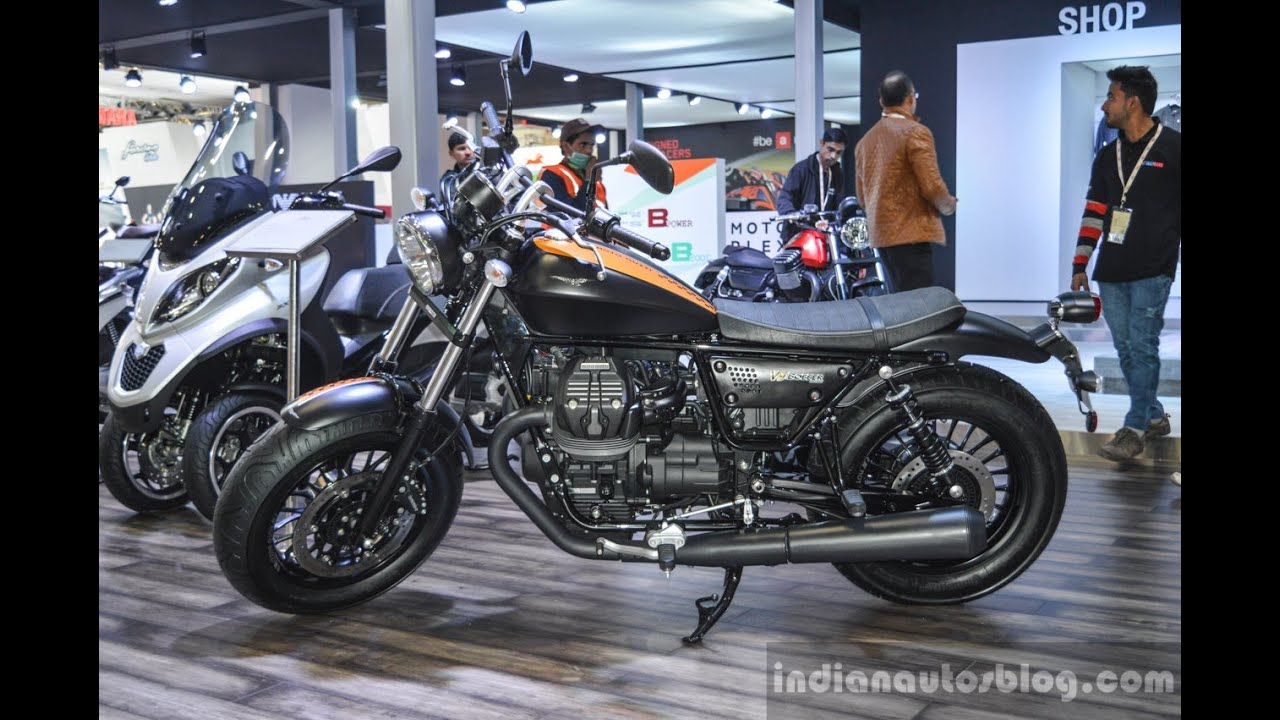 Moto Guzzi V9 Bobber At 2016 Auto Expo