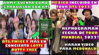 BTS CONCIERTO GRATIS LOTTE DUTY FREE Family 2021/MEXICO INCLUIDO BTS TOUR?/ARMY DIC COMO es WORK BTS